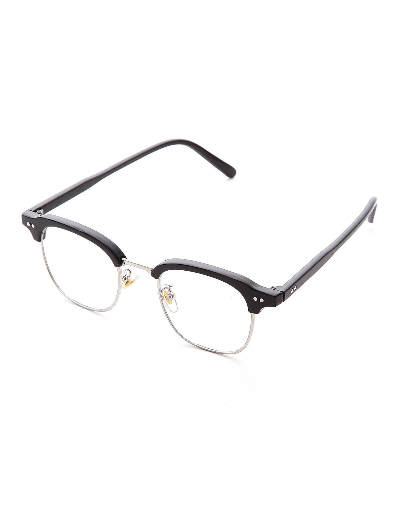 9abe943e7a3b Half Frame Clear Lens Glasses