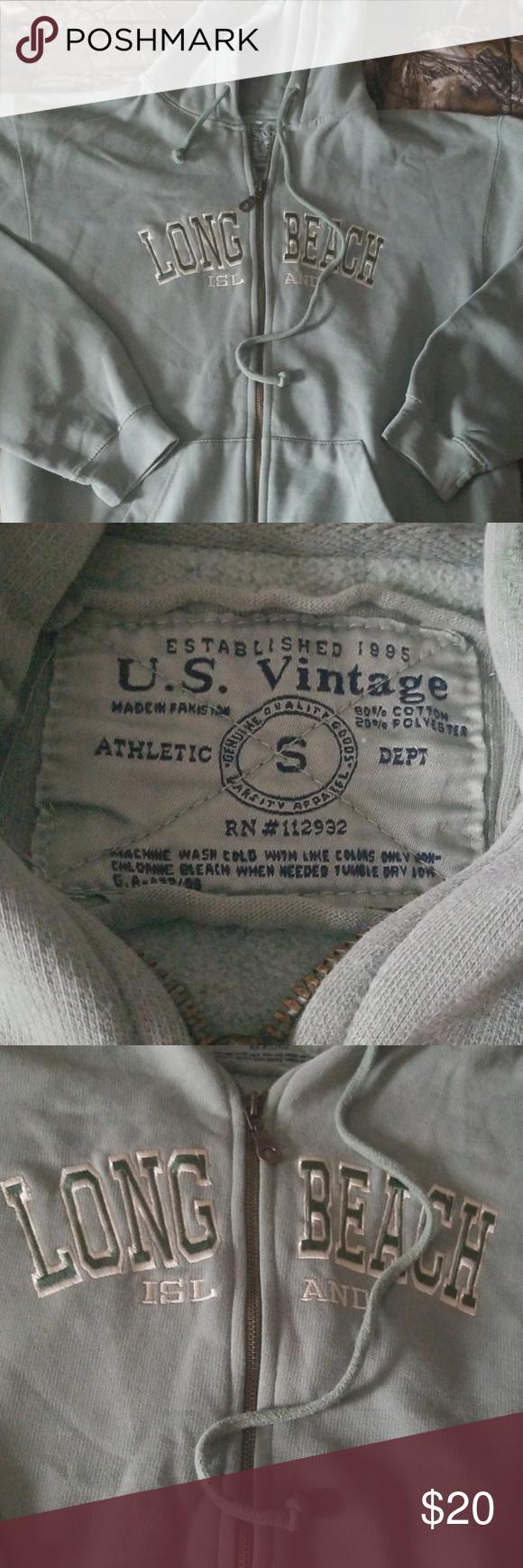 Long Island Beach Zip Up Hoodie Zip Ups Hoodies Vintage Jacket