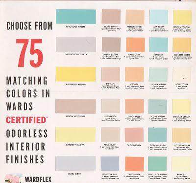 Vintage Goodness 1 0 Decorating 1950 S Paint Color Chip Brochures
