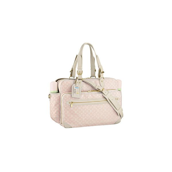 20f05369ef33 Louis Vuitton - Monogram Mini Lin Diaper Bag - eLUXURY ❤ liked on Polyvore  featuring bags