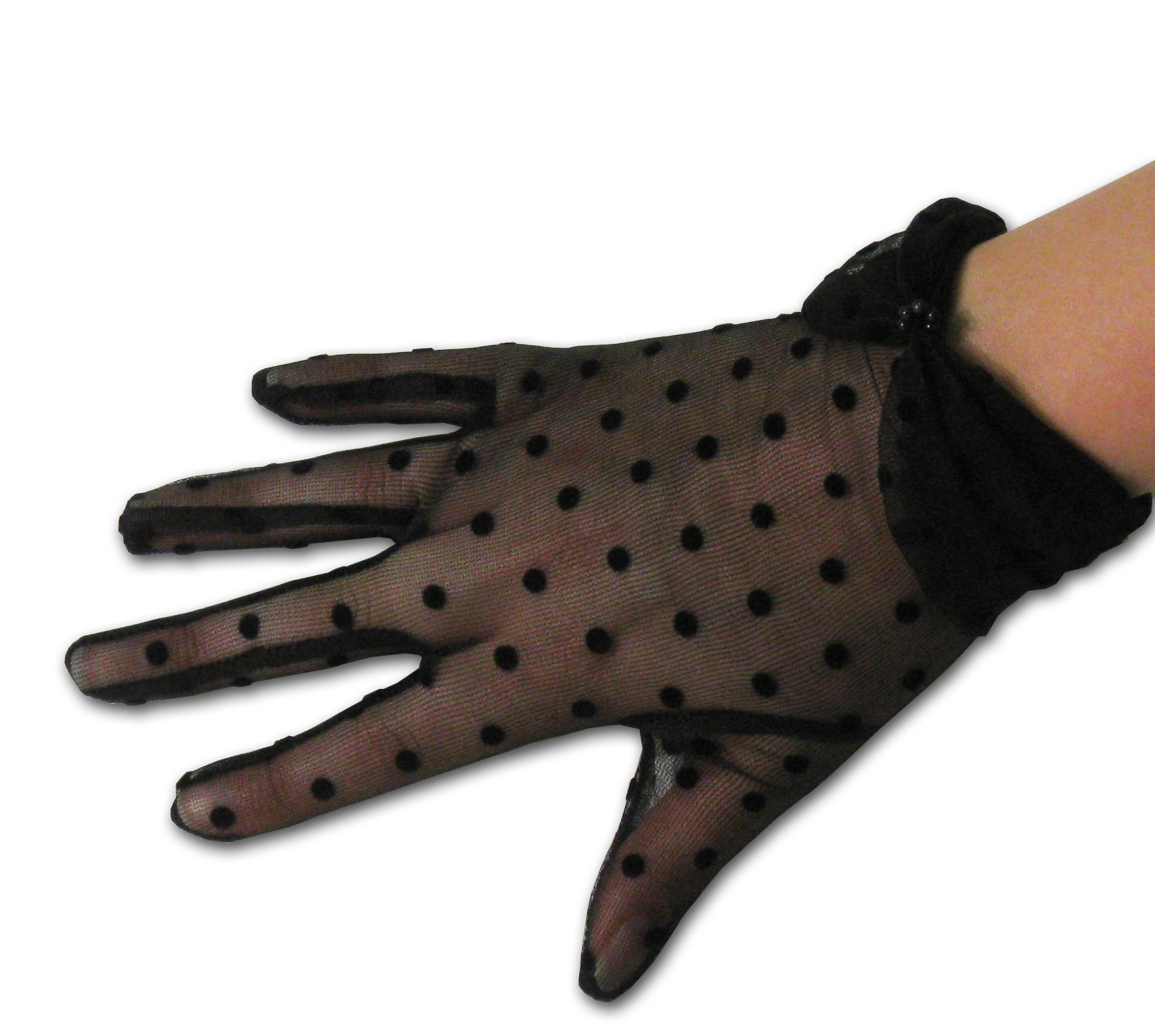 Black gloves with bow - Luxurious Nylon Sheer Gloves With Small Polka Dots In Your Choice Of Black Ivory Or White One Size Fits Most Gloves Pinterest Colors The O Jays