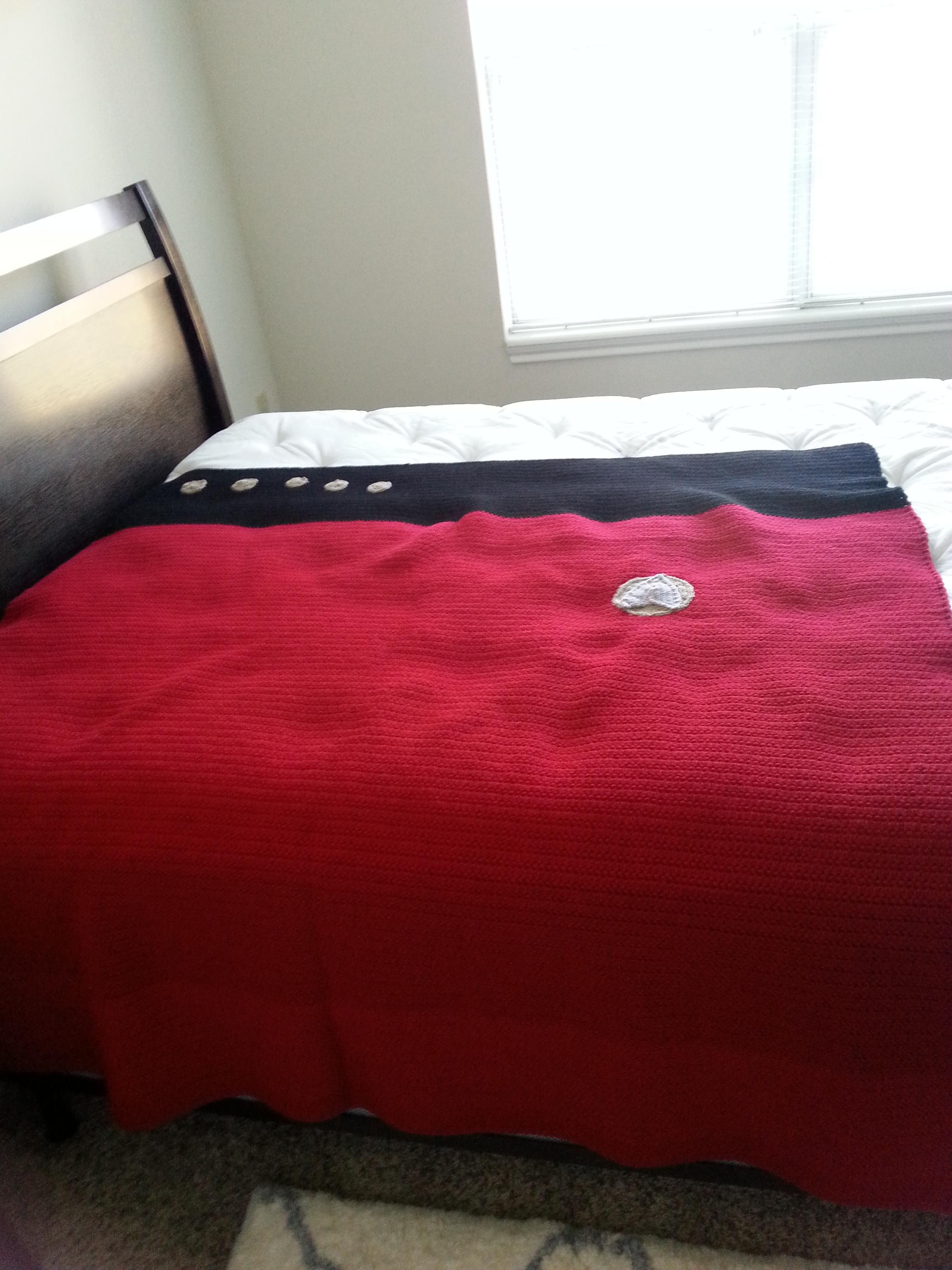 Star Trek Blanket finally finished! | Pinterest | Crochet blankets ...