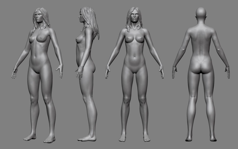 Animated female body naked 11