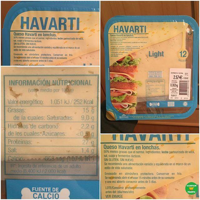 Queso Havarti Light Hacendado Supermercado Mercadona