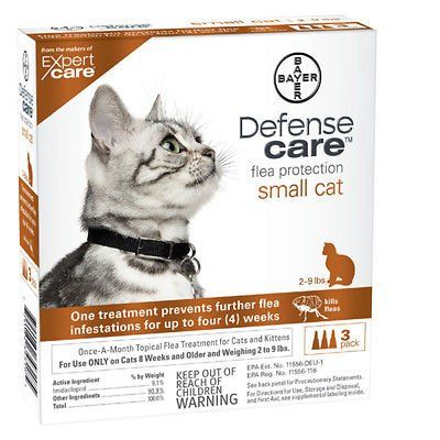 Bayer Defense Care Flea Protection For Small Cats And Kittens 2 9 Lbs 3 Pack Cats Accessories Cat Fleas Treatment Cat Fleas Cat Pet Supplies