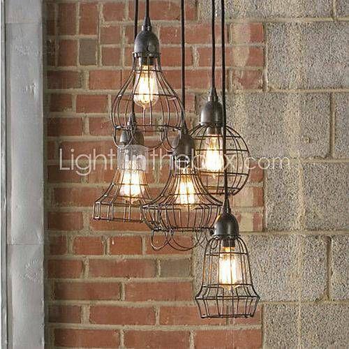 Rustique Lampe suspendue Pour Chambre à coucher Salle à manger - lustre pour salle a manger