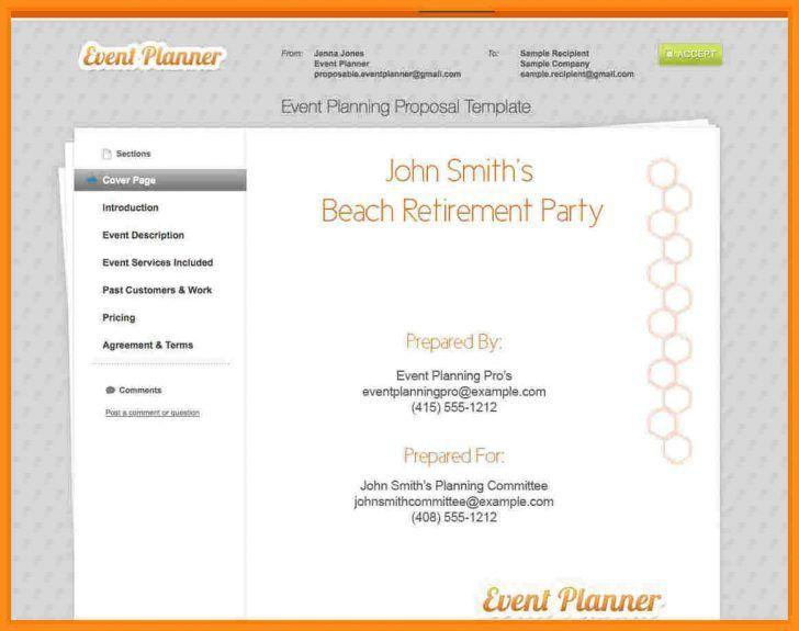 Wedding Planner Proposal Sample Letter Akter Wedding