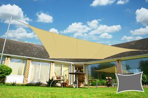 Waterproof Woven Shade Sail Sun UV Protection Garden Yard Colors Sizes Shapes