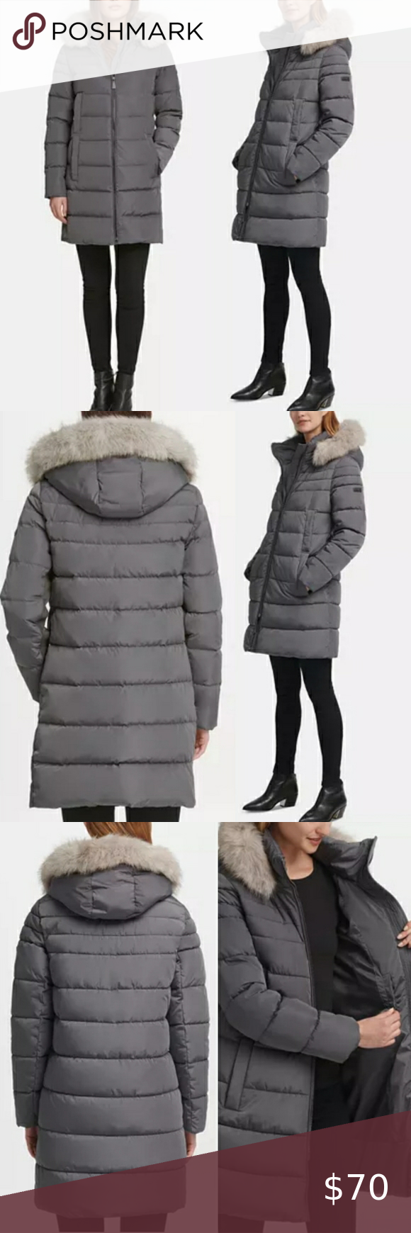 Dkny New Fur Hooded Puffer Coat Size Xs Puffer Coat Faux Fur Hooded Puffer Coat Dkny [ 1740 x 580 Pixel ]