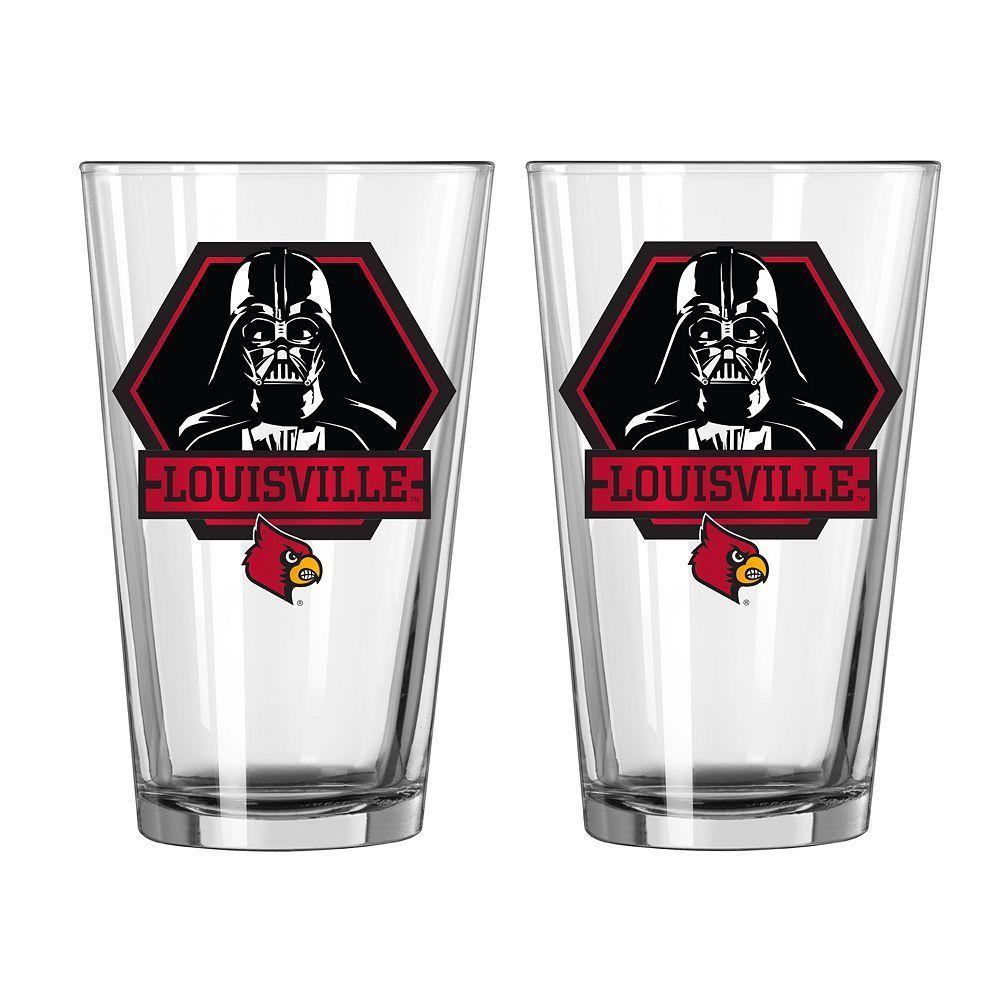 Boelter Louisville Cardinals Star Wars Darth Vader 2-Pack Pint Glasses, Multicolor