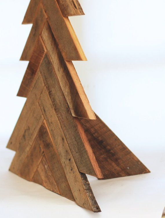 Barn Wood Christmas Tree Herringbone Pattern Wood Tree ...
