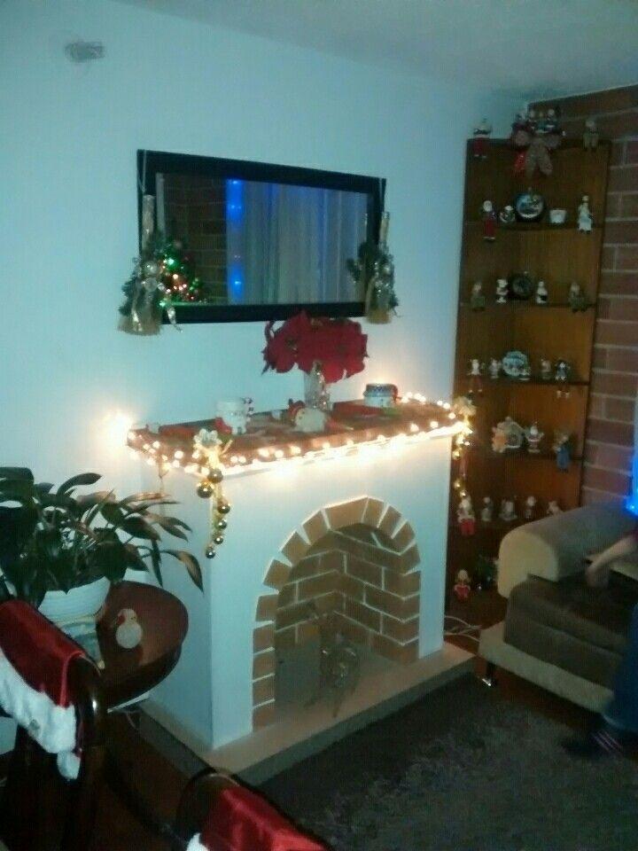 Chimenea decorativa navideña Chimeneas Pinterest Faux