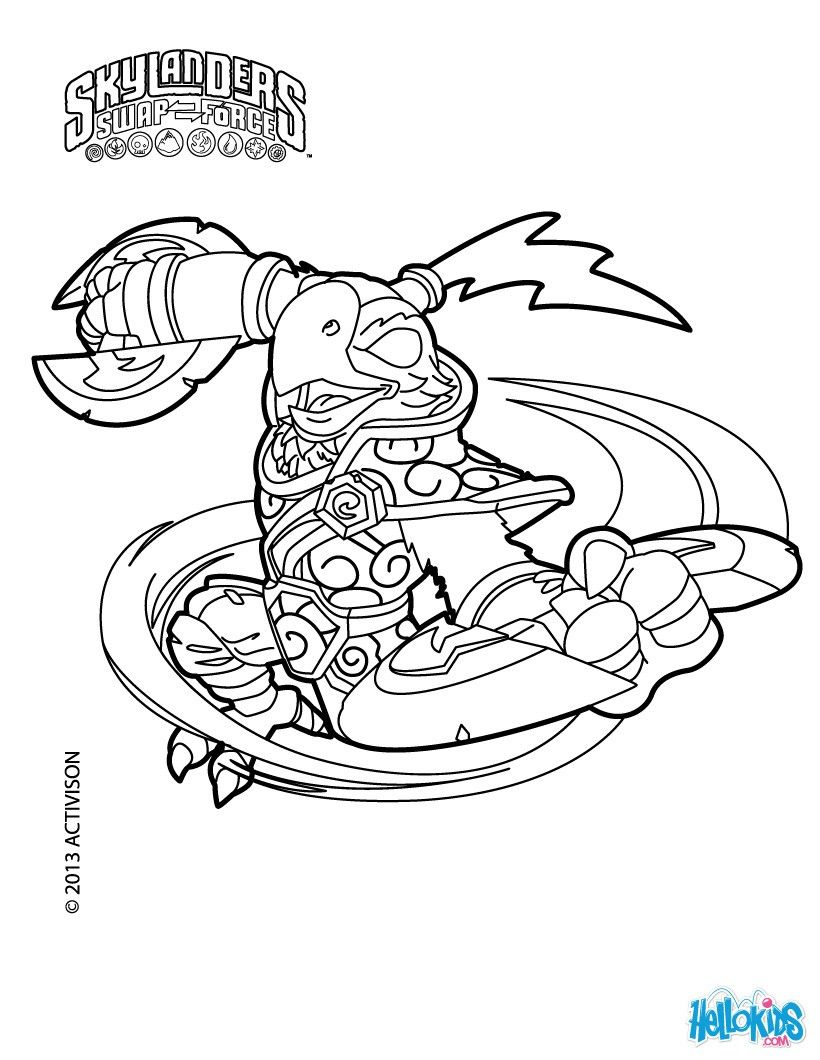 free ranger coloring page from skylanders swap force coloring pages more skylanders coloring sheets on hellokidscom