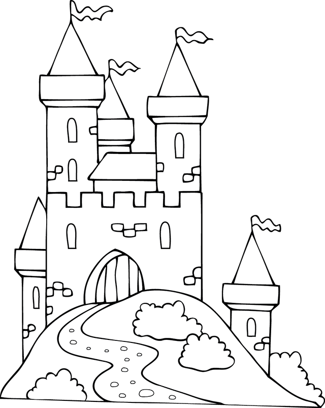 Dessin imprimer un ch teau fort coloriages for Image chateau princesse