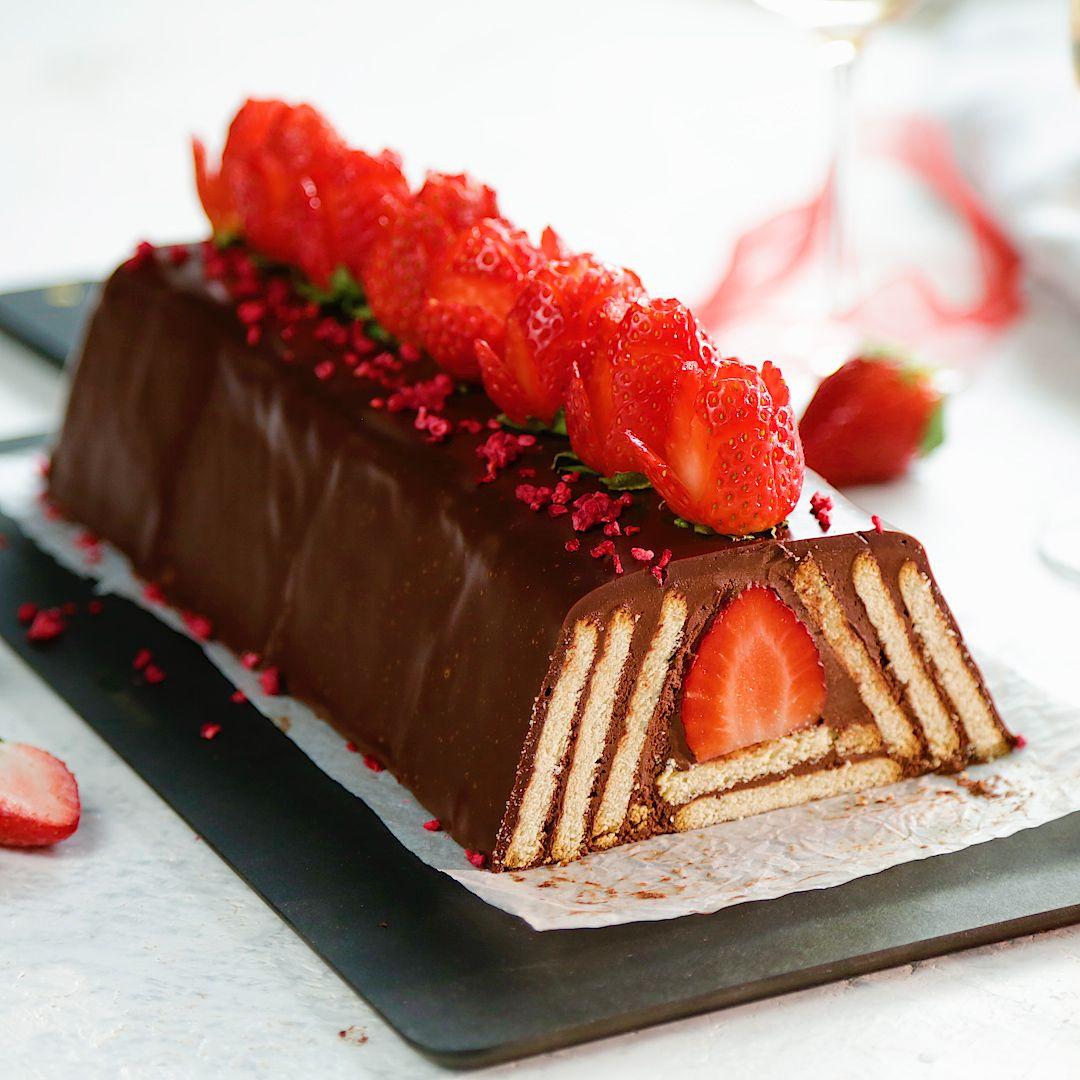 Strawberry and Chocolate Pyramid