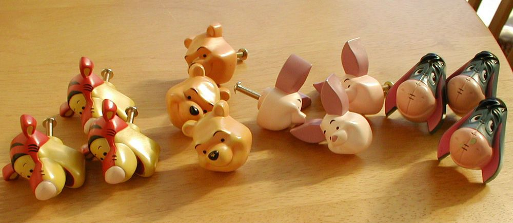 Set of 12 Winnie the Pooh door or drawer handles Tigger Piglet ...