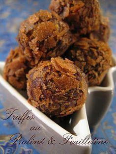Truffes au Praliné & Feuilletine #truffesauchocolat