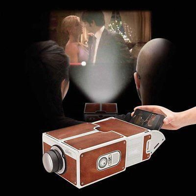 DIY Smart Phone Mini Portable Cardboard Projector Cellphone Home Cinema Theater