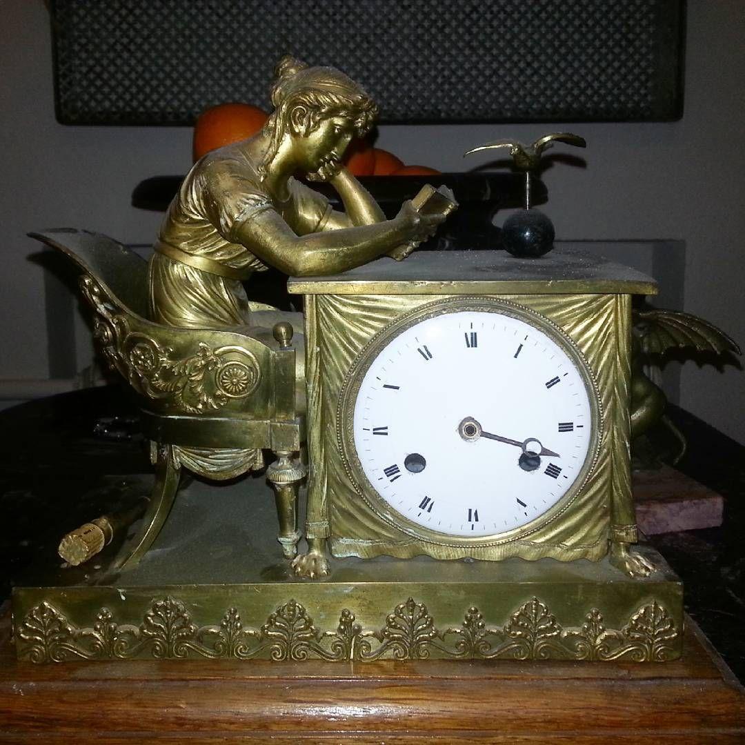 Pendule Franceantique Die Lesenende Um 1800 Uhren Instagram