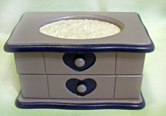 Upcycled Purple Jewelry Box
