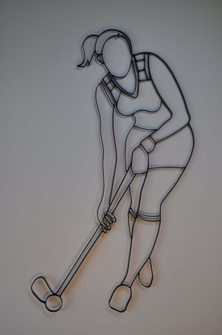 Wrought iron sports wall decor