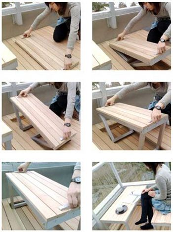Sandy Lam's integrated balcony furniture