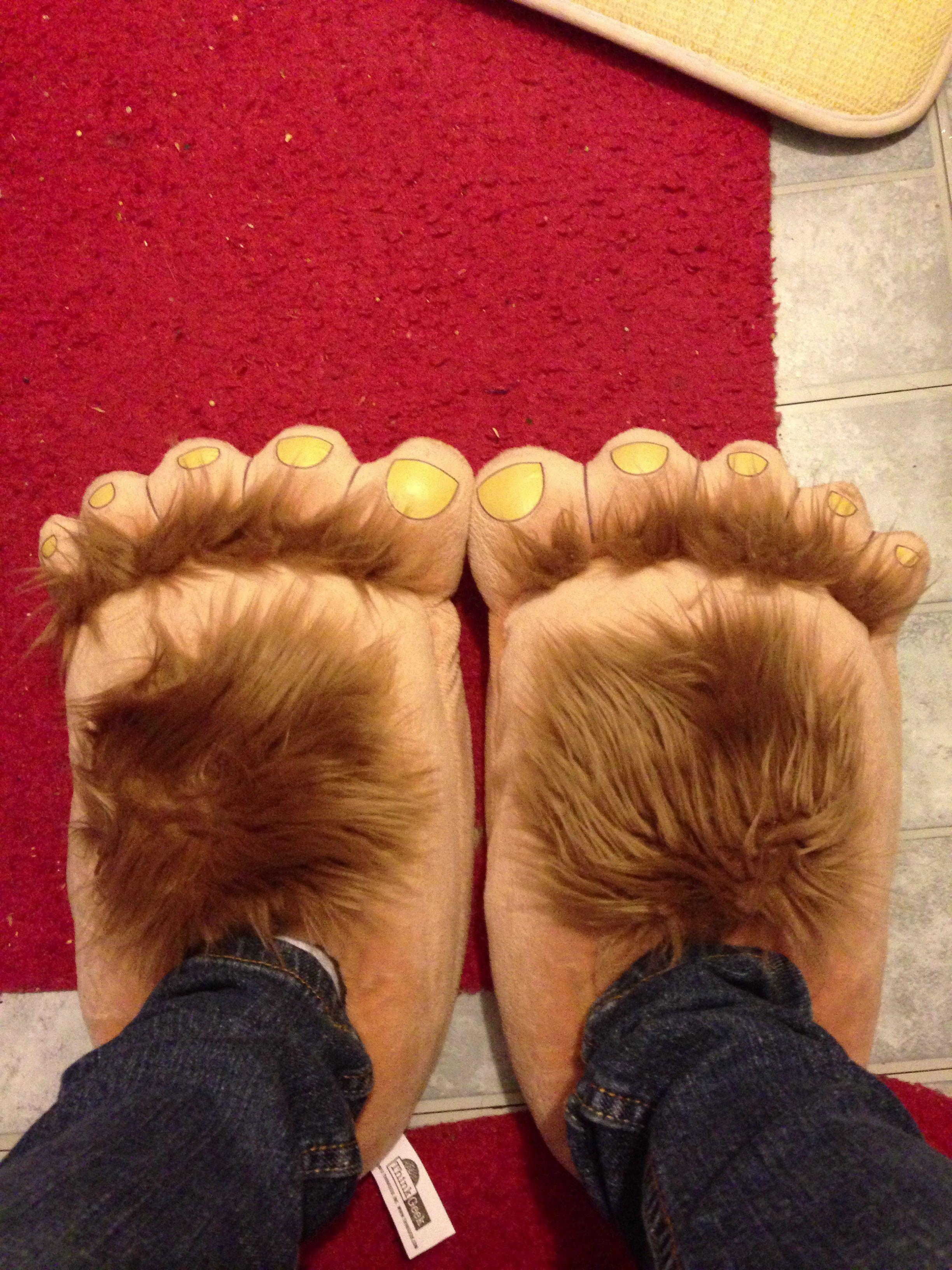 Hairy Plush Hobbit Feet Adventure Costume Furry Slippers ... |Hobbit Feet Slippers