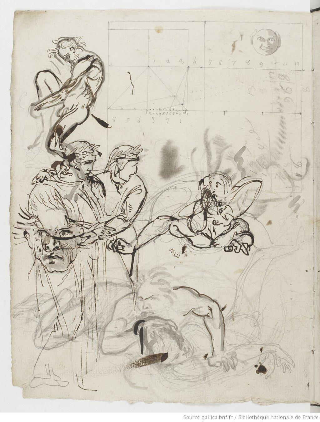 Eugène Delacroix. Carnet de notes et de dessins