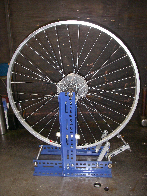 Scrap Metal Challenge Diy Bike Wheel Truing Stand Bike Repair
