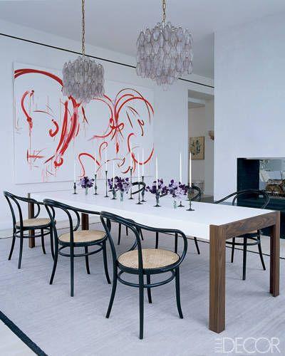 How Fashion Designers Entertain At Home. Elle DecorLight FixturesFashion  DesignersCarlo ScarpaLong Dining Room ...