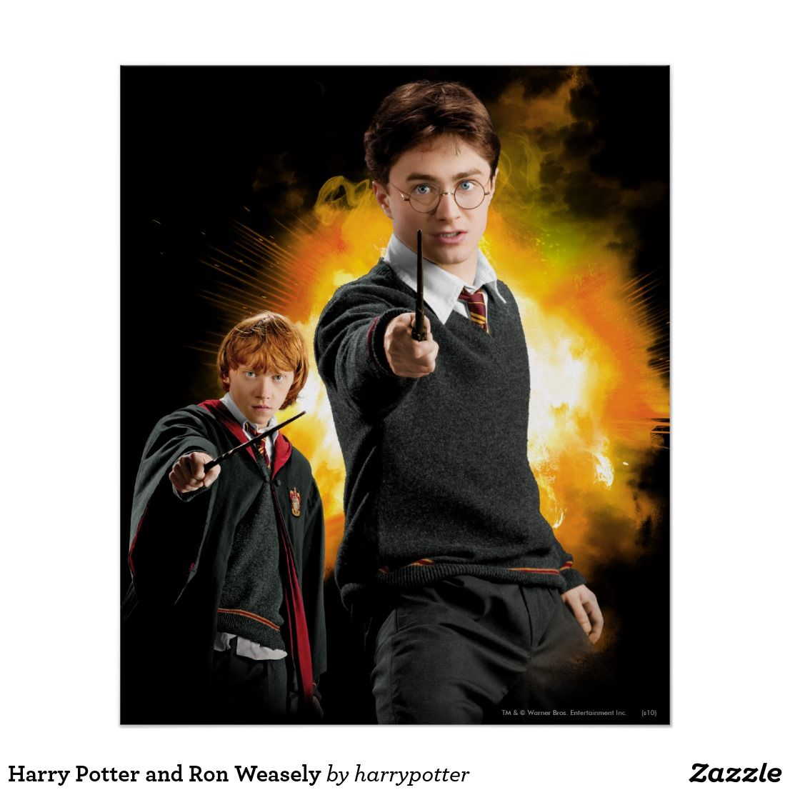 Harry Potter And Ron Weasely Poster Zazzle Com Harry Potter Invitations Harry Potter Cards Potter