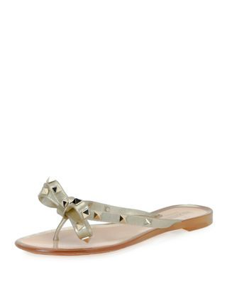 a28f753f295b Valentino Garavani Rockstud PVC Flat Thong Sandal