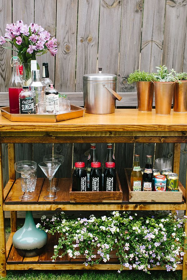 Diy Indoor Outdoor Bart Cart Table Outdoor Bar Cart Outdoor Bar Table Free Furniture Plans