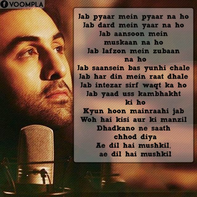 Ae Dil Hai Mushkil Dialogues and Quotes Bollywood quotes