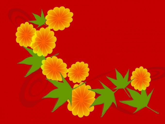 japanese inspired flowers backgrounds for powerpoint templates, Powerpoint templates