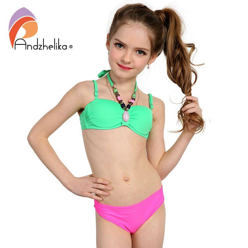 Children S Teens: Andzhelika 2017 Summer Children's Swimwear Decoration Neck
