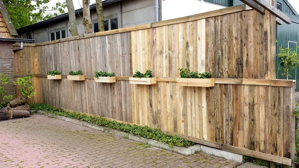 Fence Planter Boxes For Wood Pallet Fence Planter Boxes Cloture Jardin Cloture Jardin Pas Cher Cloture Jardin Bois