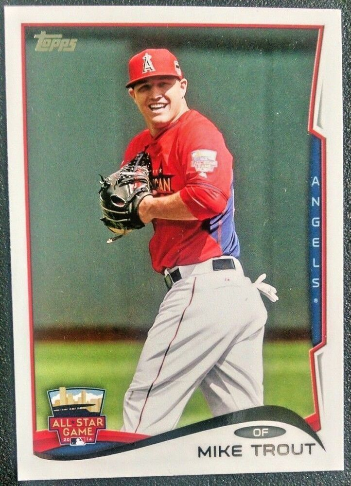 2two 2014 topps update us54 mike trout angels all star