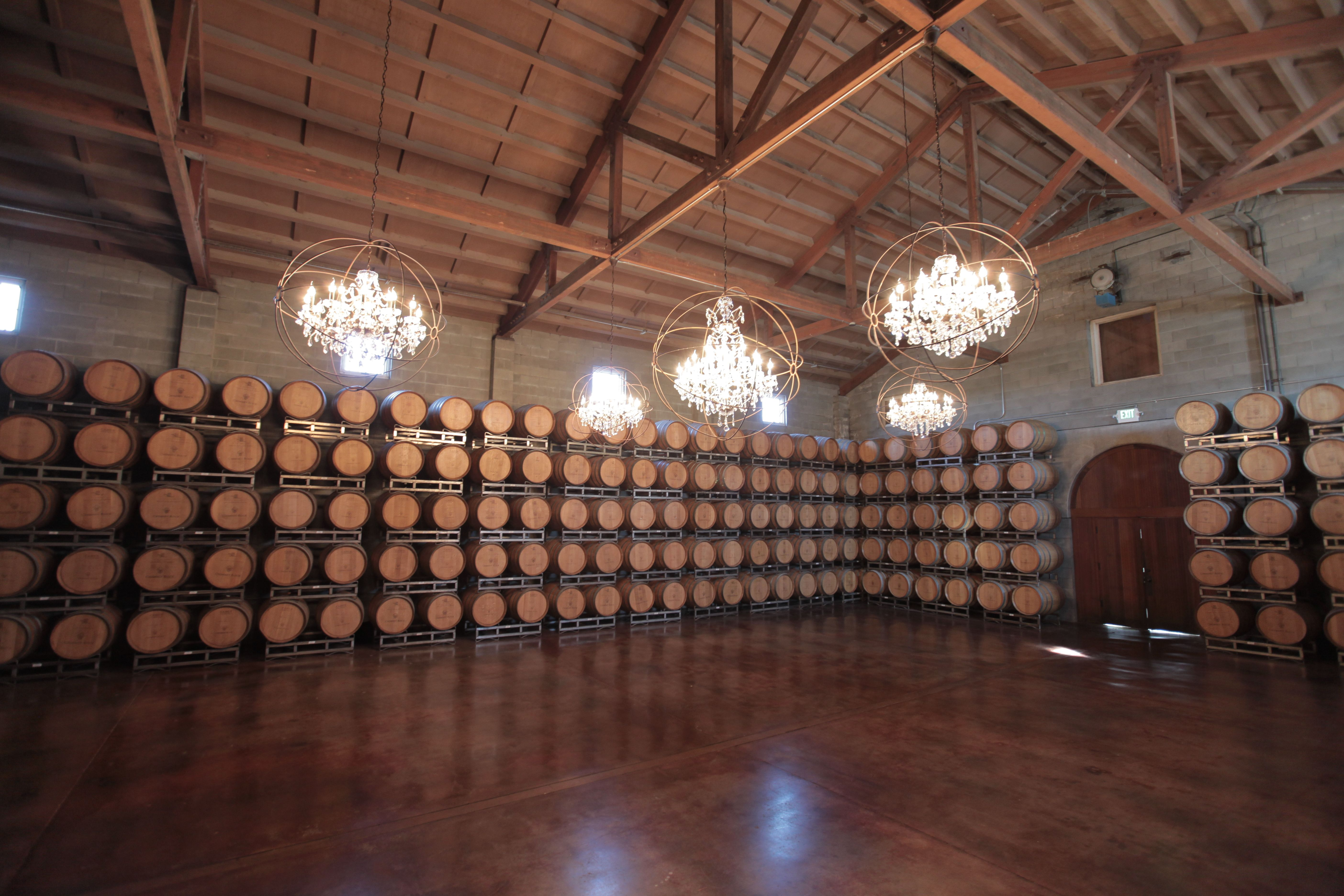 The barrel room at Chimney Rock is a beautiful venue for a special ...