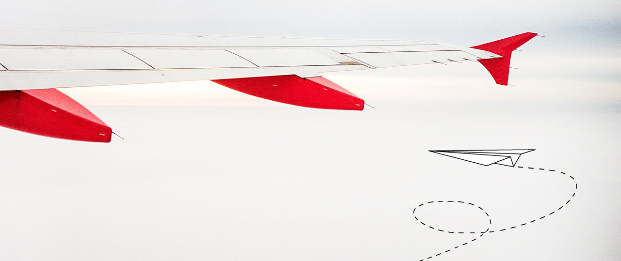 © Ralph K.Penno Photography / Germany / Berlin / #airplane #sky #ralphpenno #red #white