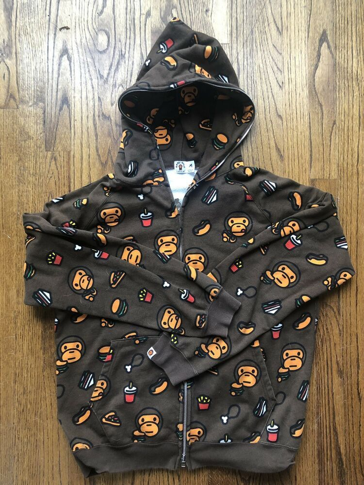 ed64f3a5 A Bathing Ape Baby Milo Junk Food Brown Full Zip Hoodie Medium Nigo Bapesta  #fashion #clothing #shoes #accessories #mensclothing #activewear (ebay link)