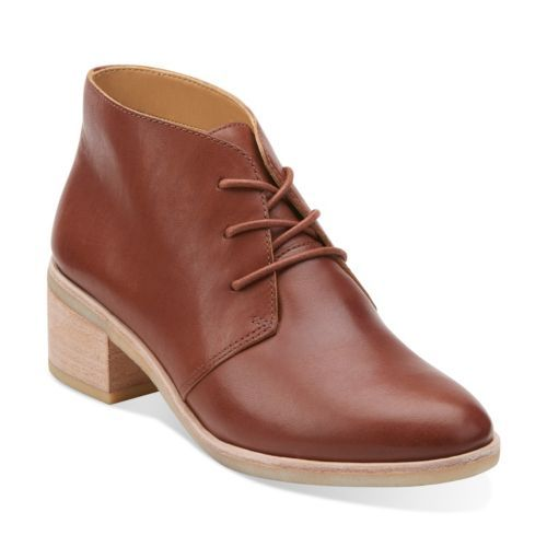 Phenia Carnaby Tan Leather - Clarks Womens Shoes - Womens Heels and Flats -  Clarks -