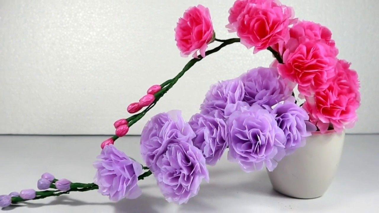 Membuat Bunga Palsu Dari Kantong Plastik Kresek Bekas Tutorial