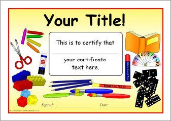 Editable school themed certificate templates sb9838 sparklebox editable school themed certificate templates sb9838 sparklebox yelopaper Images