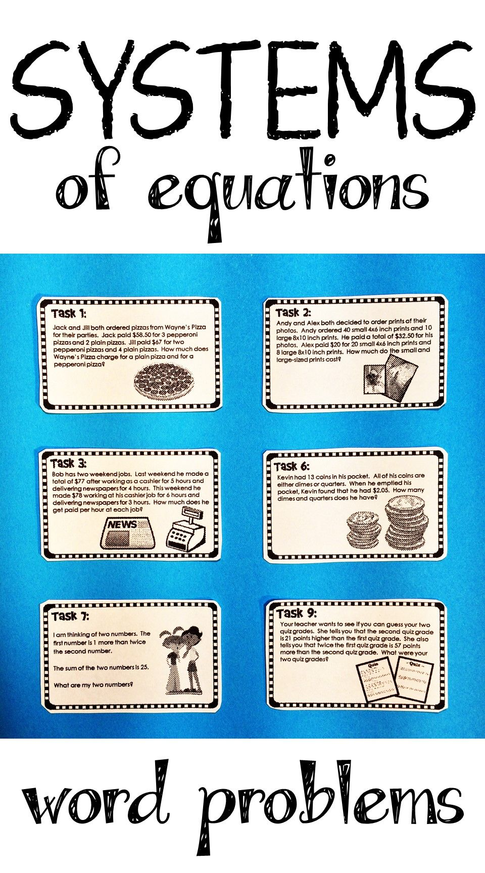 Systems Of Equations Activity Word Problems Print And Digital Word Problems Systems Of Equations Algebra Activities