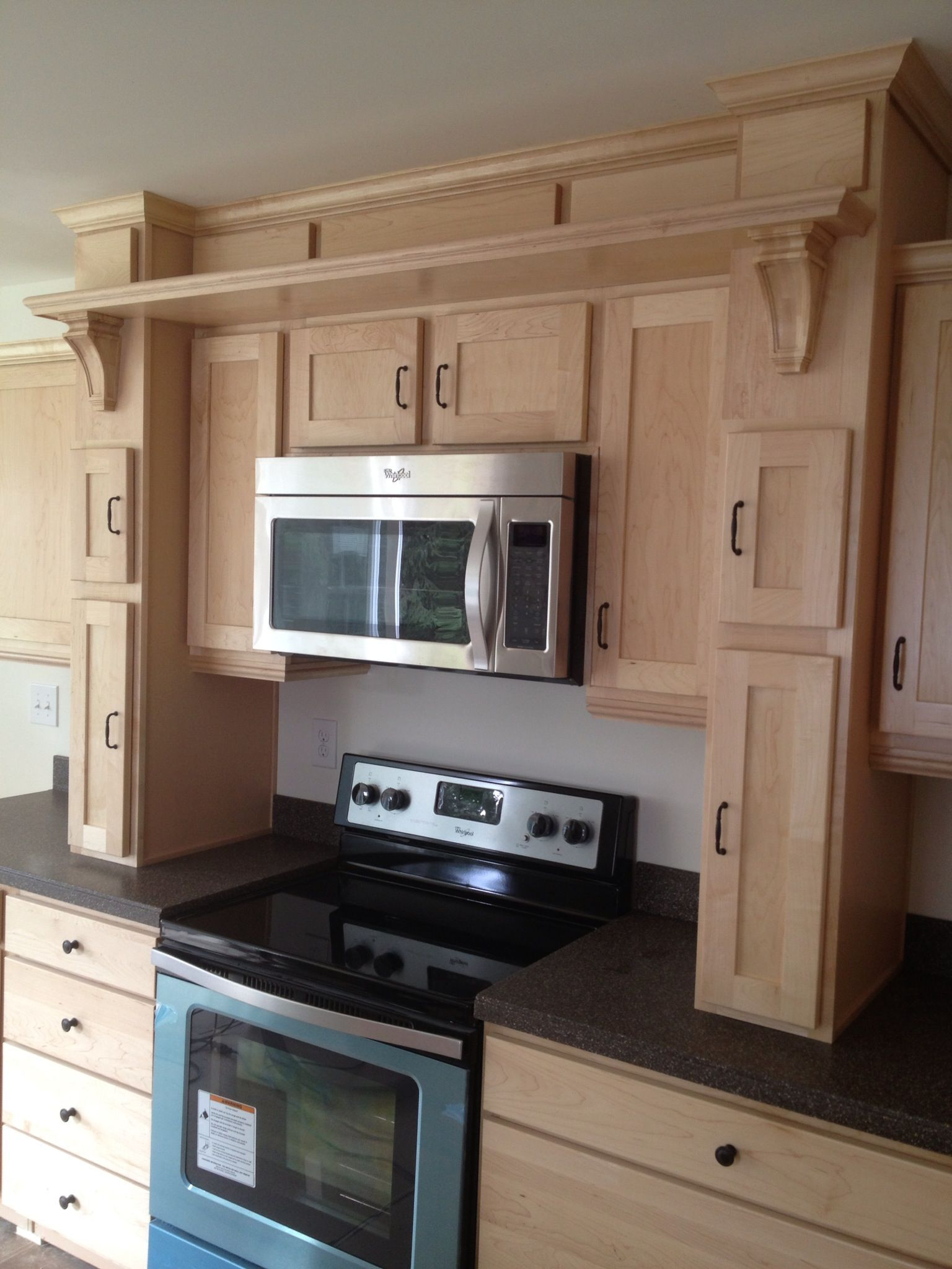 Great hearth kitchen with microwave option! #builtinfanoven | Wall ...