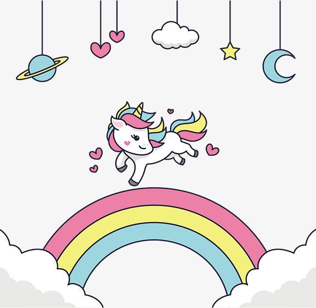 vector png o arco íris a ponte do arco íris as nuvens lindo