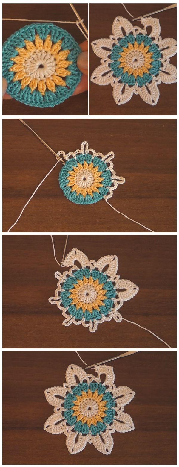 Crochet Flower Patterns For Beginners #crochetedflowers