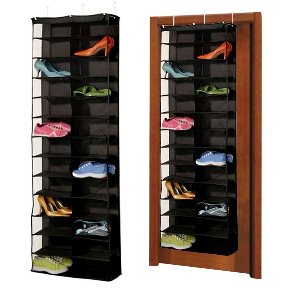 1Pc 26pairs Shoes Hanger Storage Bags Over The Door Hanging Organizer  Groceries Rack Space Saver Boxes