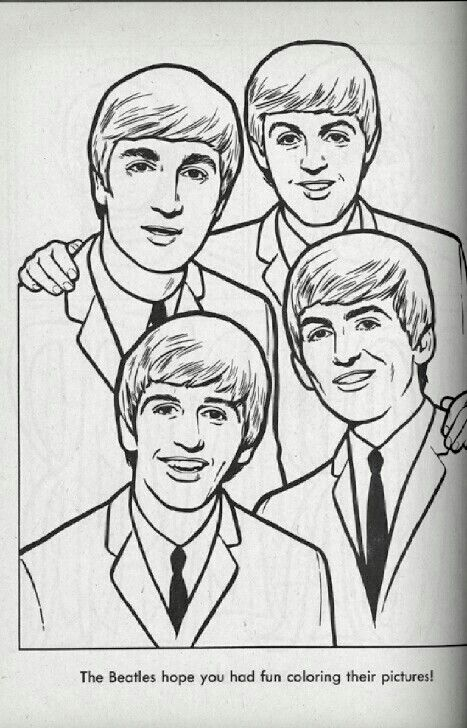 books the beatles - Beatles Coloring Book